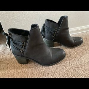 ROXY Lace Up Back Dulce Heeled Ankle Boots